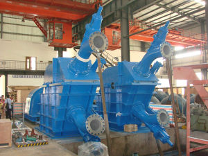 Pelton Turbine (double nozzle) /Hydro Turbine/Power Plant pictures & photos