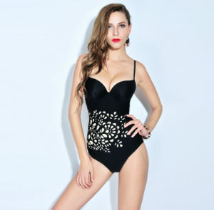 New Design Women′s Slim Hot Springs Printing Cover Belly Suspenders Swimwear pictures & photos