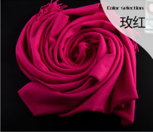 Cheap Winter Warm Long Shawls Pashmina 100% Acrylic Scarf pictures & photos