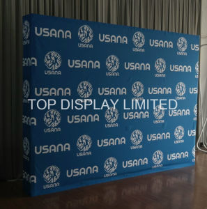 Factory Wholesale Advertising Portable and Modular Aluminum Fabric Exhibition Booth Exhibition Banner Equipment Promotion Pop up Store Display Stand Product pictures & photos