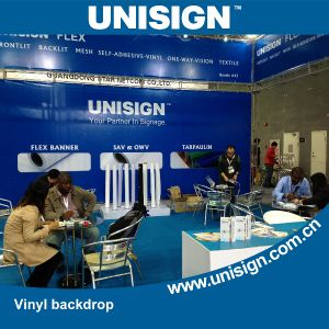 Unisign Hot Selling Vinyl Backdrop with Customized Size and Logo (LFG35/440) pictures & photos