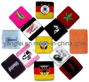 Sports Embroidery Terry Sweatband Cotton Wristband pictures & photos