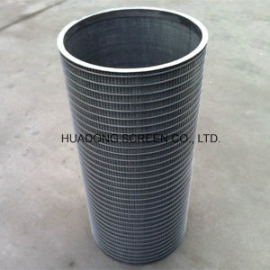 Inverted Wedge Wire Wrapped Water Well Screens Cylinder for Industrial Filter pictures & photos