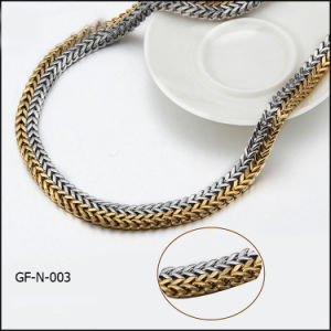 Stainless Steel Woven Flat Chain for Necklace pictures & photos