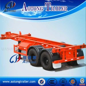 Heavy Duty 40FT 2 Axles Skeleton Container Semi Trailer pictures & photos