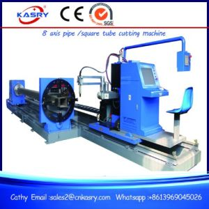 Round Pipe Square Tube Profile CNC Plasma Flame Cutting Beveling Machine for Steel Fabrication Kr-Xf8 pictures & photos