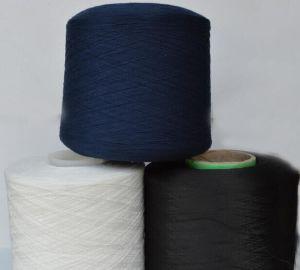 Dyed Ring Spun Polyester Yarn pictures & photos