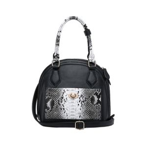Trendy Style Python Print Shell Shape Women Handbag (MBNO041023) pictures & photos