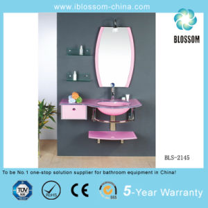 Bathroom Colored Glass Vanity (BLS-2145) pictures & photos