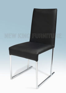 Fashion Cheap Chrome Steel Foot PU Leather Dining Chair (NK-DC057)