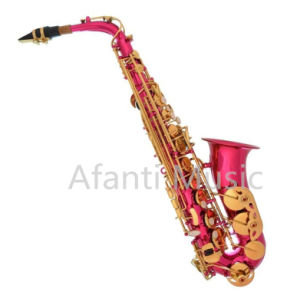 Hot Sale Pink Body Student Alto Saxophone/ Saxophone (AAS001PK) pictures & photos