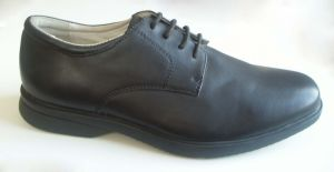 Men′s PU Classic Shoes/Lace UPS