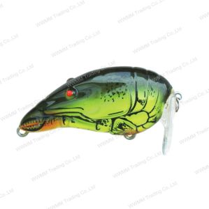 Top Grade Plastic Fishing Lure--UV Coated Craw Shape Top Water Crank Bait (HW011) pictures & photos