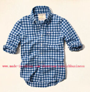 Men′s Cotton Yarn Dyed Check Shirt (SM14104) pictures & photos