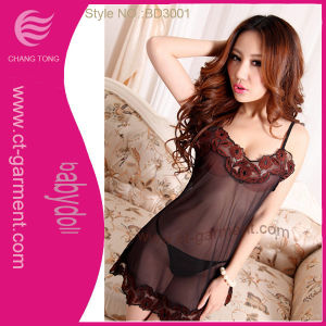 Mini T-Back Sexy Babydoll /Women′s Strapless Corset Lingerie (BD3001) pictures & photos