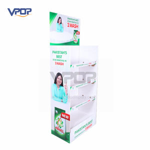 Professional Super Market Cardboard Display Rack for Washing Powder