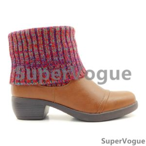 Comfortable Fashion Women Boots/Shoes Lady Boots/Shoes Ankle Boots Knit Boots pictures & photos
