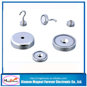 Durable Neodymium Pot Magnetic Ceiling Coat Hook with Strong Magnetism pictures & photos