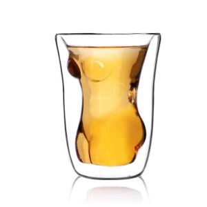 Woman Shaped Double Wall Glass Cup pictures & photos
