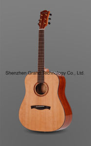 "Top Quality 41"" Red Cedar Solid Custom Handmade Acoustic Guitar pictures & photos"