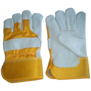 "Safety Leather Work Gloves, 10.5"" Full Palm Cow Split Leather Protective Gloves, Labor Protection Gloves pictures & photos"