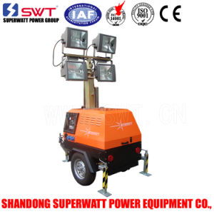 Swt LED Lighting Tower with 7m Vertical Mast 1200W Light
