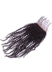 100% Virgin Hair Lace Frontal 4X4 Silk Base Kinky Curly Lace Closure, Ear to Ear Full Lace Frontal Bleached Knots with Baby Hair pictures & photos