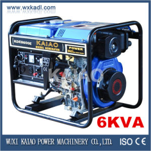 6KW Single Cylinder Air Cooled Diesel Generator Electric Start pictures & photos