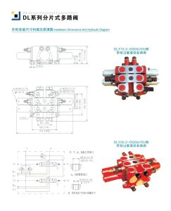 Hydraulic Control Sectional 2 Spool Valve for Excavator pictures & photos