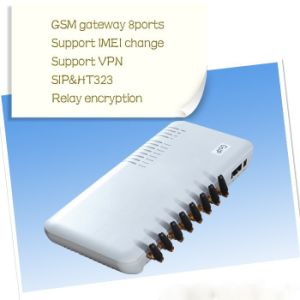 8 Ports GoIP, GSM VoIP Gateway/ GSM VoIP Terminal Withecho Cancellation pictures & photos