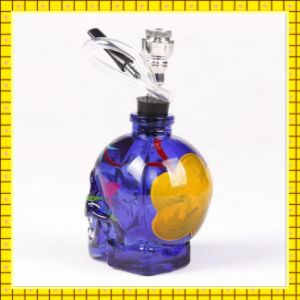 Hot Selling Skull Colored Drawing Glass Water Pipe Hookah pictures & photos