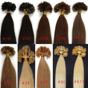 100%Brazilian Virgin Human Hair U Tip Pre-Bonded Hair Extensions pictures & photos