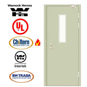 Steel Fire Door/Fireproofing Steel Door/30 60 90mins BS Tested/UL Certified with Vision Glass