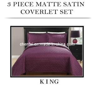 3PCS Satin Coverlet Set, Bedspread Bedding Sets