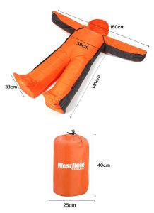 Human Body Shape Sleeping Bag Actable Walk Camping Sleeping Bag pictures & photos