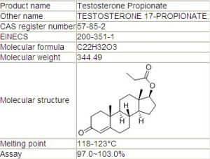 CAS: 57-85-2 Popular and Good Quality Steroid Powder Testosterone Propionate pictures & photos