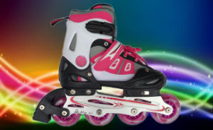 Red PU Wheels Inline Skate for Children
