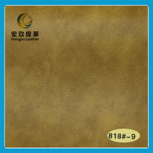 Superior Soft Waterproof and Anti-Mildew Semi-PU Furniture Leather (818#) pictures & photos