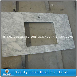 Pencil Edges Custom Carrara White Marble/Stone Bathroom Vanity Top pictures & photos