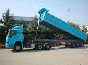 Three Axles 30 Tons Rear Dump Trailer pictures & photos