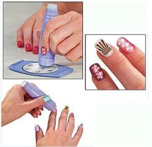 Stamping Nail Art, Salon Express, Acrylic Nail Stencil Stamping Kit pictures & photos