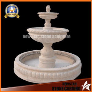 Stone Carving Travertine Water Feature Stone Fountain for Garden Decoration pictures & photos