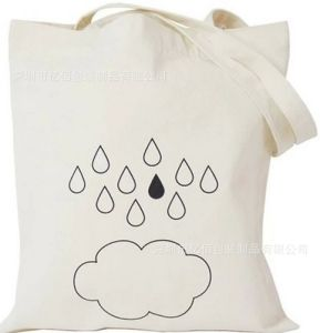 Eco Natural Cotton Bag with Silk Screen Printing for Promotion pictures & photos