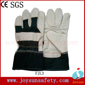 Furniture Leather Glove Industrial Safety Rigger Gloves (FJL3)