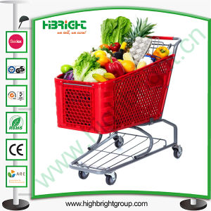 Hypermarket Plastic Shopping Trolley Cart for Retail Store pictures & photos