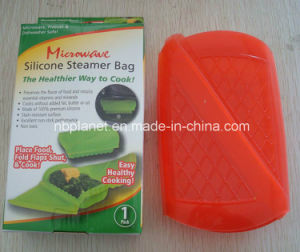 Microwave Silicone Steamer Food Container pictures & photos