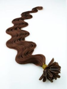 Wavy Brazilian Virgin Remy Italian Keratin U Tip Fusion Hair Extensions pictures & photos