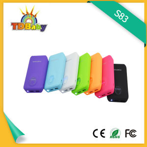 Colorful and Competitive 6000mAh Small Power Bank (S83)