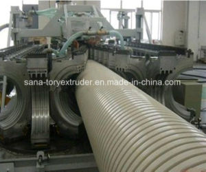 Plastic PE PP Double-Wall Corrugated Pipe Extrusion Production Machine Line pictures & photos