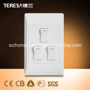 South Africa Standard 6 Round Hole Wall Switch Socket pictures & photos